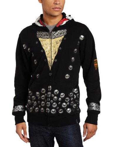 Volcom - Mens Kiss Full Zip Fleece Hoodie, Size: Large, Color: Black
