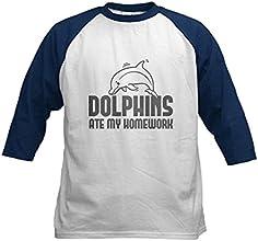 CafePress Kids Baseball Jersey - Dolphins Ate My Homework Kids Baseball Jersey