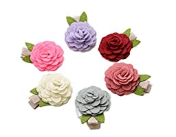 Ema Jane - Vintage Baby Hair Bow Clip Sets (Vintage Roses (Classy))