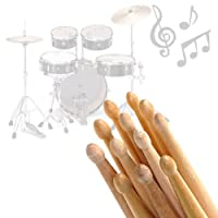 eSecure - 12 Drum Sticks 5A Drumsticks Maple High Quality Wood UK by eSecure