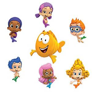 "Bubble Guppies Set of 8 Removable Wall Stickers 6"" Inch Bubble Guppies"