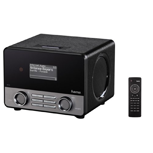 "Hama Internetradio WLAN / LAN ""IR110"" (mit Fernbedienung, LAN-Buchse, stereo, schwarz)"