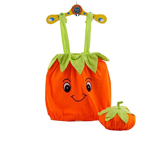 Cute Baby Overall Pumpkin Shape A Suit Of Overall And Hat Orange 46Cm front-156227