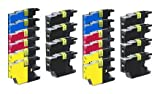 Compatible Ink Cartridge Replacement for Brother LC-75 (8 Black 4 Cyan 4 Magenta 4 Yellow) 20 Pack