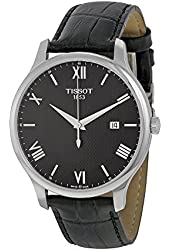 Tissot Tradition Black Dial Stainless Steel Leather Quartz Men's Watch T0636101605800