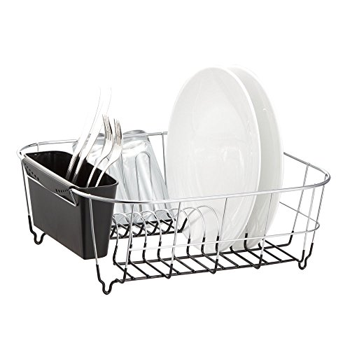 Deluxe Chrome-plated Steel Small Dish Drainers (Black) (In Sink Dish Rack Small compare prices)