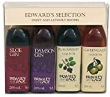 Edward's Selection - 4 x 5cl Fruit Liqueur Miniature Gift Set by Bramley and Gage