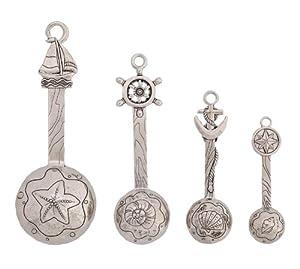 Lighthouse / Nautical Metal Measuring Spoon Set