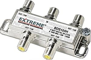 Extreme 4 Way Balanced HD Digital 1GHz high performance coax cablecplitter - BDS104h