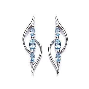 MiChic Jewellery Silver with Sky Blue Topaz Earrings