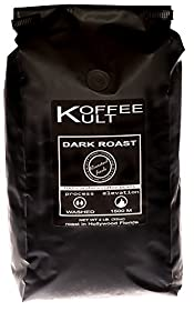 Koffee Kult Coffee Beans Dark Roasted - Highest Quality Delicious Organically Sourced Fair Trade - Whole Bean Coffee - Fresh Gourmet Aromatic Artisan Blend - 2 Lb Bag