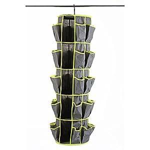 rangement chaussures suspendu pour penderie 20 paires couleur al atoire cuisine. Black Bedroom Furniture Sets. Home Design Ideas
