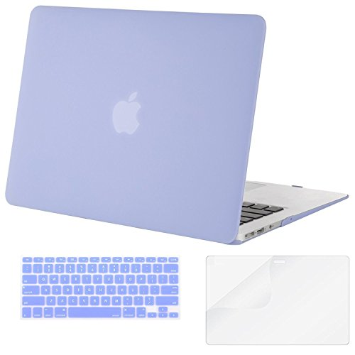 Mosiso - 3 in 1 Macbook Air 11 Inch Soft-Skin Plastic Hard Case Cover & Keyboard Cover & Screen Protector for Macbook Air 11.6
