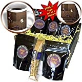PS Creations - Dance to Music Ballets Shoes with White Tulip - Coffee Gift Baskets - Coffee Gift Basket