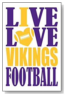 Live Love I Heart Vikings Football lined journal - any occasion gift idea for Minnesota Vikings fans from WriteDrawDesign.com
