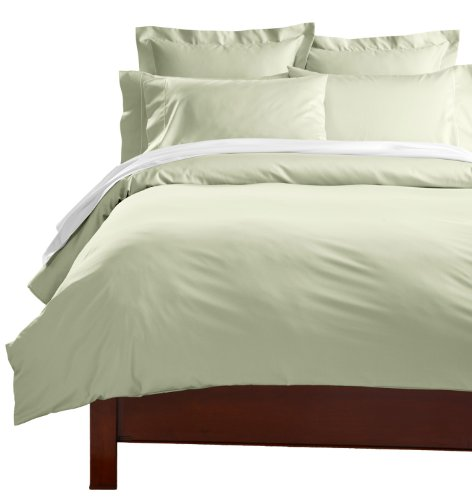 Cuddledown 400 Thread Count Comforter Cover, Twin, Sage front-907456