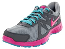 NIKE Womens Revolution 2 Running Shoes - Size: 10, Wolf Grey/pink