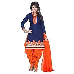 Fashion Ritmo Blue colurefull Patiala Salwar Suits