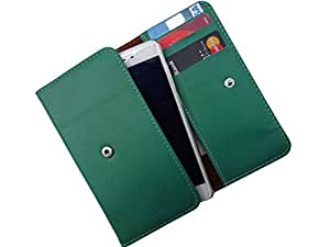 ATV PU Leather Persian Green Pouch Case Flip Cover For Gionee Elife E8