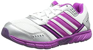 adidas Performance  A-Faito Lt Lace K / D65310, chaussures de sport - course à pied mixte enfant - Blanc - Weiß (RUNNING WHITE FTW / VIVID PINK S13 / TRIBE PURPLE S14), 37 1/3 EU / 4.5 UK EU