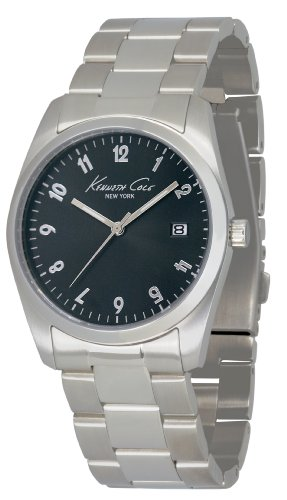 Kenneth Cole Women's Quartz Watch with Black Dial Analogue Display and Silver Stainless Steel Bracelet KC4777
