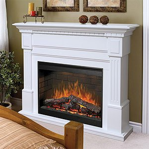 Best Price With Dimplex Sussex Electric Fireplace In White