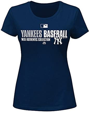 Majestic Ladies New York Yankees Tee, Plus Sizes by Majestic