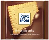 RITTER SPORT KNUSPERKEKS NEW, 16 CHOCOLATE BARS WITH EACH 100 grams
