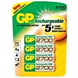 GP 2700 mAh AA Rechargeable Batteries (Pack of 4)