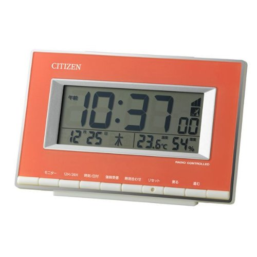 CITIZEN デジタル電波目覚時計 パルデジットエース ピンク色 8RZ133-013