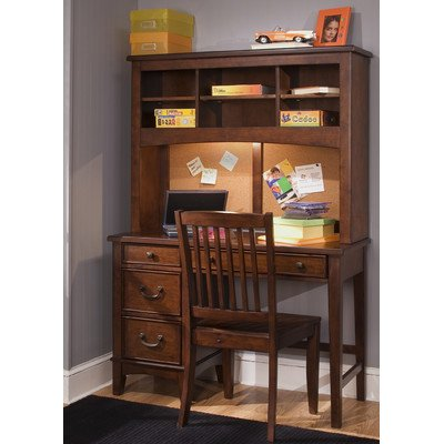 """Bundle-34 Chelsea Square Youth Bedroom 44"""" W Computer Desk With Hutch (2 Pieces) front-736421"""