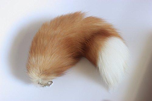 honestshop-165-supper-huge-fluffy-golden-yellow-fox-tail-fur-cosplay-toy-alopex-lagopus-handbag-acce
