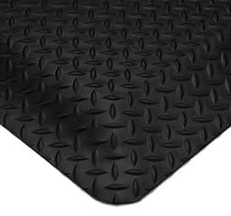 Wearwell PVC 497 Smart Diamond-Plate Medium Duty Anti-Fatigue Mat, Tapered Edges, for Dry Areas, 2\' Width x 3\' Length x 5/8\