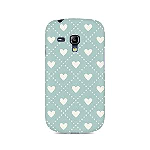 Motivatebox- Heart Vintage Premium Printed Case For Samsung S3 Mini 8190 -Matte Polycarbonate 3D Hard case Mobile Cell Phone Protective BACK CASE COVER. Hard Shockproof Scratch-