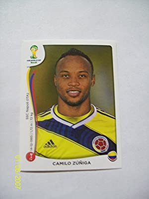 2014 Panini World Cup Soccer Sticker # 191 Camilo Zuniga; Team Colombia.