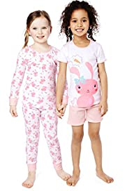 2 Pack Pure Cotton Bunny Pyjamas