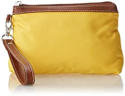 Sydney Love Cosmetic Yellow Clutch,Yellow,One Size