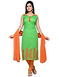Roopali Creations Women's Chanderi Silk Salwar Suit Set - B013SVSLRQ