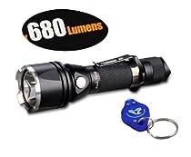 Fenix TK22 XM-L2 U2 680 Lumen Tactical Flashlight with Bonus 25 Lumens Keychain Light