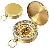 SODIAL(R) Klassiker messinggelber Kompass mit Aussehen wie Taschenuhr