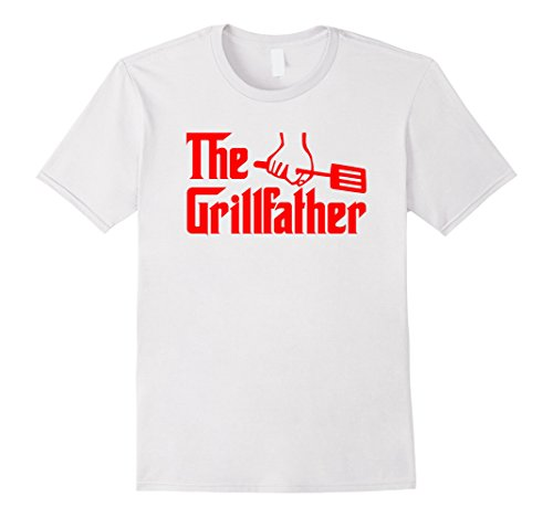 Men's The Grillfather Red Funny BBQ Grill Chef Tee Shirt XL White (Bbq Shirt Men compare prices)