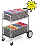 Charnstrom Mail Cart with 2 Removable File Baskets