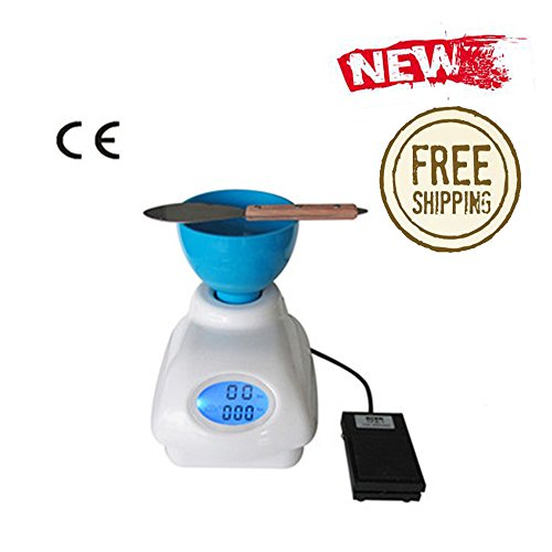 Dental Large LCD Screen Portable Blender HL-YMC4 Alginate/Die Stone Electric Mixer +Metal Knife+Mixing Rubber Bowl (Metal Contacts) Foot Switch (Stone Blender compare prices)