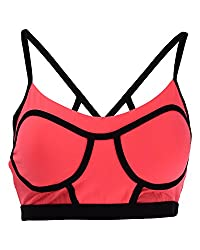 Lorna Jane Seamless Non-Wired Candice Bra (121427_M, Pink and Black, M)