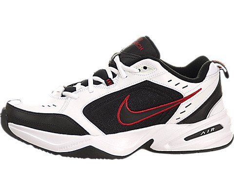 Nike Men's NIKE AIR MONARCH IV RUNNING SHOES 10 (WHITE/BLACK/VARSITY RED)