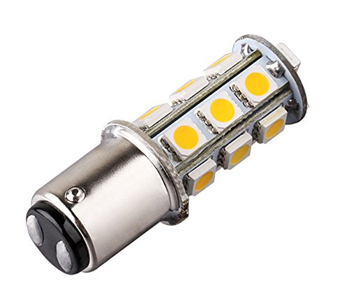 S&D 1142 BA15D 18 SMD 5050 Warm White Tail Turn Signal Auto Car RV Boat Truck Vehicle LED light Bulb Lamp,Compatible with: BA15D 1142 1004 1076 1130 1158 1176 1178 ...(For Reference Only) (S10 Headlight Covers compare prices)