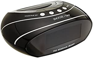 The Sharper Image EC-B130 AM/FM Clock Radio with Time and Weather Butler