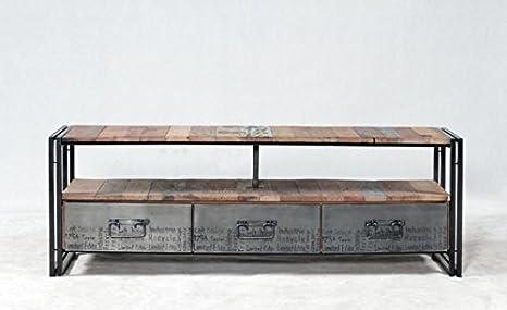 Walk - EDITO-18006 - Meuble tv 160 cm evasion 3 tiroirs