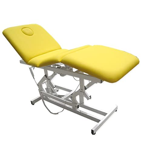 Trattamento elettrico letto di terapia tavolo di massaggio sala relax divano in giallo