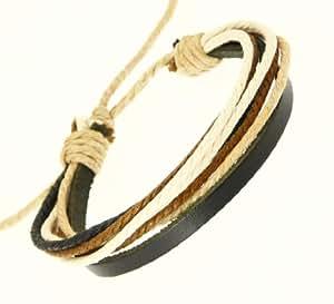 Bracelet Homme en cuir noir et cuir de couleur Cordons Bracelet / Bracelet en cuir / surf Bracelet - 84